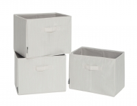 STORAGE MANIAC Storage Bins With Handles, Foldable Storage Basket, Bamboo  Style, 3 Pack, Medium